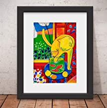 Quadro Decorativo Poster Matisse Gato Color & Vidro & Paspatur 46x56cm