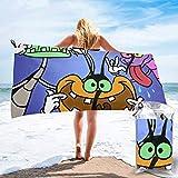 NBHJU Kumpulan Gambar Oggy And The Cockroaches Asciugamani da Bagno-Nuotatori Asciugamano Leggero Super Assorbente-Asciugamano da Spiaggia ad Asciugatura Rapida per Campeggio, Escursionismo e Uso Dom