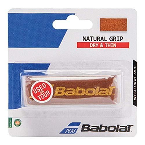 Babolat Natural Grip Accesorio Raqueta de Tenis, Unisex Adulto, marrón, Talla Única