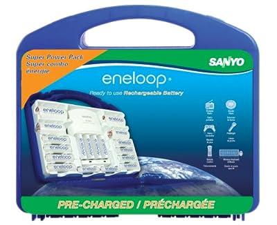 eneloop Super Power Pack, 1800 cycle, 12 AA, 4 AAA