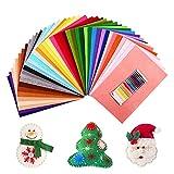 SOLEDI Feltro Colorato Feltro in Fogli 41 Colori 20*30 cm Morbido Feltro e Pannolenci Usato per DIY...