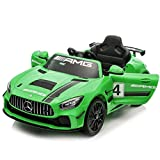 Baybee Mercedes Benz Electric Ride on Car for Kids with Rechargeable 12V Battery,Music, Lights Baby Toy Car with R/C Jeep Children Racing Car for Boys & Girls(Red)