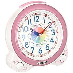 Seiko CLOCK clock educational alarm clock (light pink) KR887P
