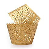Elegant Lace Cupcake Wrappers - Choice of 5 Colors