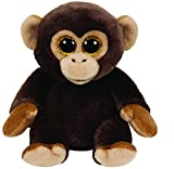TY 90224 Bananas Monkey 90224-Bananas-AFFE mit Glitzeraugen, schwarz