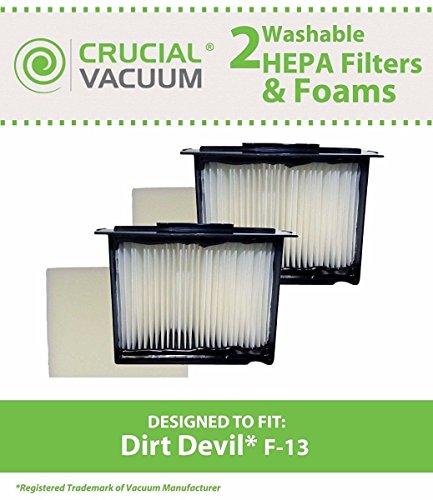 Dirt Devil Type F13 HEPA Vacuum Filter, 3LK0540001 Dirt Devil Hepa Filter Cartridge