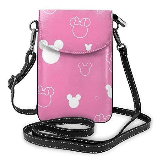 XCNGG Monedero pequeño para teléfono celular Red Minnie Cell Phone Purse Shoulder Bag Travel Daypack Women Girls Party Gift