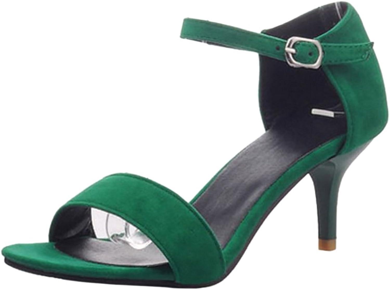 TAOFFEN Women Sexy Stiletto Medium Heeled Sandals Elegant Strappy