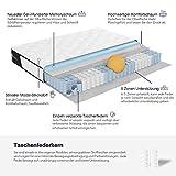 Avenco 5-Zonen Matratze 180x200, Hybrid Federkernmatratze mit Memory-Schaum, Taschenfederkern Matratze 180x200 H3 mit ausgezeichneter Unterstützung, Oeko-TEX, Höhe 18 cm, Weiß - 5