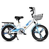 FUFU 16/18/20 Pulgadas De Bicicletas Deportes Niños con Soporte Lateral Y Accesorios, Adecuado For Niños Mayores De 5 Años (Color : Blue, Size : 16in)