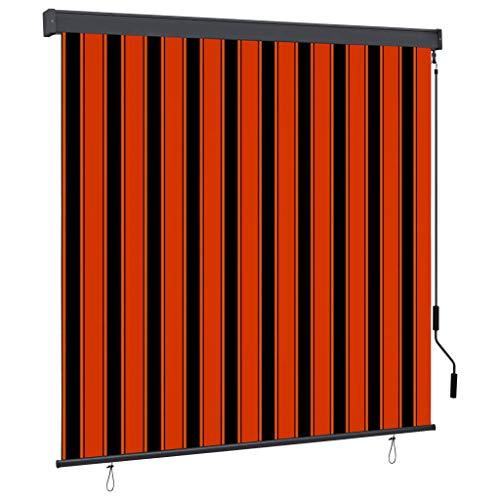 FAMIROSA Estor Enrollable de Exterior Naranja y marrón 160x250 cm