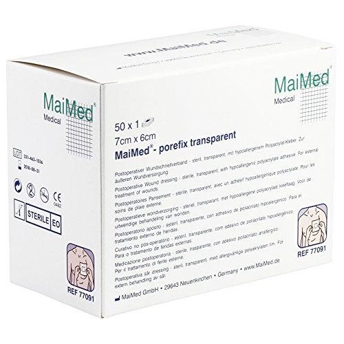MaiMed®- porefix transparent Wundschnellverband verschiedene Größen, Größen:7 cm x 6 cm