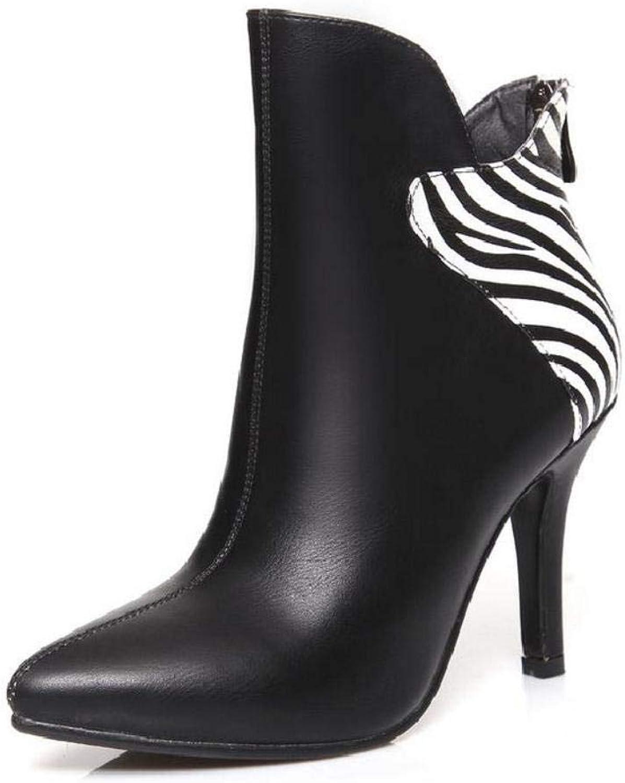 NVXUEZIX Damen Schuhe Kunstleder Herbst Winter Komfort Stiefel Spitze Zehe Stiefelies Stiefeletten Reißverschluss Für Kleid Party & Festivität Weiß, us6.5-7   eu37   uk4.5-5   cn37  | Starke Hitze- und Abnutzungsbeständigkeit