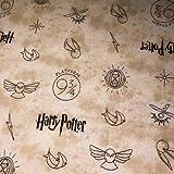Stoff, Harry-Potter-Motiv, 100% Baumwolle VISF55 Harry