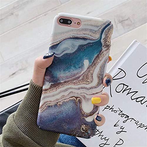 AKDYH beschermhoes van marmer in vintage-stijl voor iPhone 7 8 X XR XS Max mat harde schaal voor iPhone X 6 6S 7 8 Plus