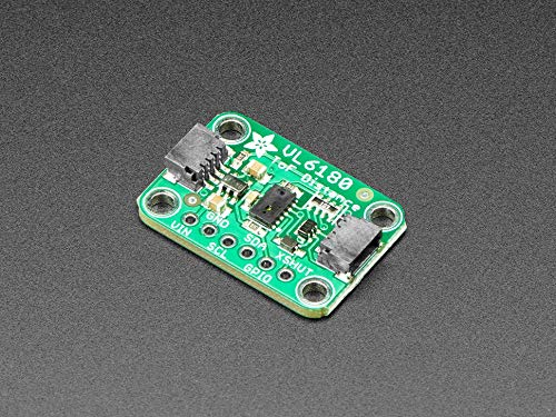 Adafruit (PID 3316 VL6180X Time of Flight Distance Ranging Sensor (VL6180)
