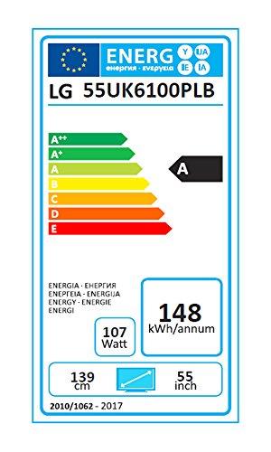 LG 55UK6100PLB - Televisor de 55'' (Smart TV, 4K Ultra HD, 3840 x 2160 Píxeles, Quad Core), Color Negro