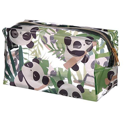 EliteKoopers - Bolsa de lavado de PVC transparente para bolsas de baño, bolsa de maquillaje