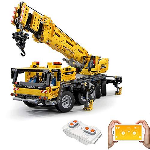 Gingerde Technic 2590Pcs 2.4G Fernbedienung Mechanische Kran 1: 8 MOC 2 in 1 Mobil APP & Fernbedienung BAU Baukastens Baufahrzeuge LKW-Spielzeug-Geschenk