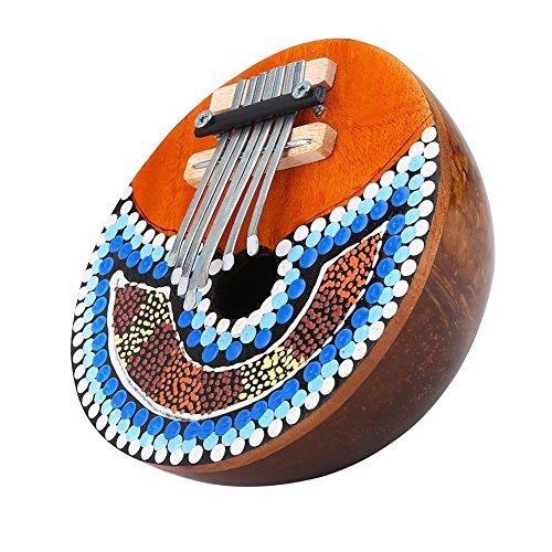 7llave Pulgar Piano, profesional portátil Mbira Instrumento para Amantes de la música