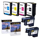 Lucky Bridge 2PK HP940 Printhead C4900A C4901A Remanufactured Printhead and 1 Set 940 940XL Ink Cartridge for HP Officejet 8000 8500A (Printhead and Cartridge) -USA