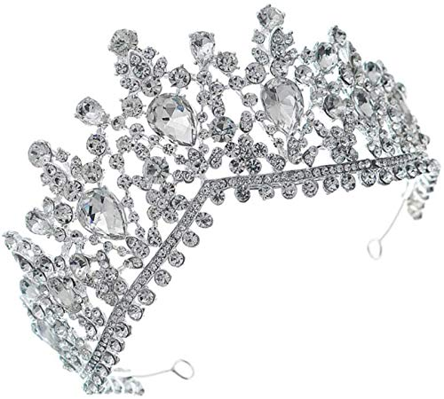 KEEBON Strass Bridal Crown, Princess...