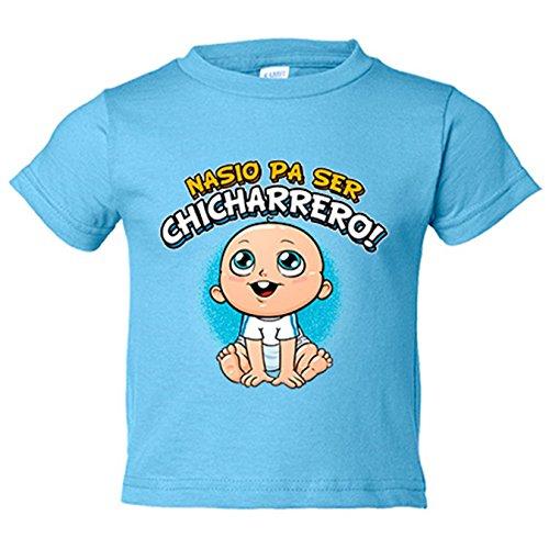 Camiseta niño nacido para ser Chicharrero Tenerife fútbol - Celeste, 18-24 meses