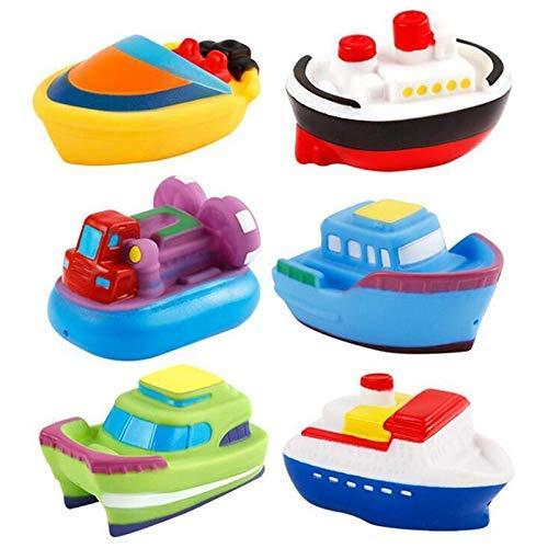 TYUXINSD Lovely Juguetes 6 unids Dibujos Animados Divertido bebé Baño Juguete Bath Bath Toys Juguetes Squirt Toys Squeeze Spraying Baño Baño Piscina Juguetes para niño