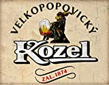 AMELIA SHARPE Tin Signs Vintage Kozel Beer Czech Republic Wall Decoration Metal Sign Home Bar Garage Decoration Sign 8x12 Inch