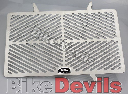 R&G RACING STAINLESS STAAL RADIATOR GUARD COVER Past op SUZUKI V-STROM 1000 ALLE JAAR - SRG0016SS
