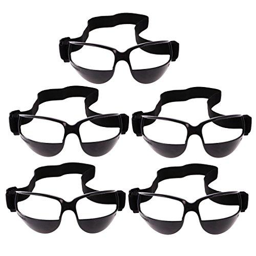 perfeclan 5 Stück Basketball Dribbeln Brille Trainingsbrille Dribbelbrille Trainingsgerä - 5pcs Schwarz