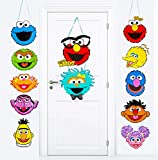 Sesame Street Party Decorations Sesame Cutouts Door Porch Sign Garland for Outdoor Indoor Home Wall Décor Elmo Monster Big Bird Ernie Oscar Inspired Kids Birthday Party Supplies