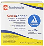 Dynarex Sensilance Safety Lancets, 26 Gauge, Sterile, 100 Count