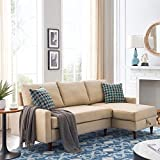 Sectional Sofa Couch Sleeper Sofa Sectional Pull Out Sofa Bed for Living Room L-Shape Sofa Couch 3-seat Sofas Sectional with Storage Chaise for Apartment(Pillows not Included)