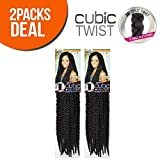 ISIS Synthetic Hair Crochet Braids A Fri-Naptural Cubic Twist (2-Pack, OM27)