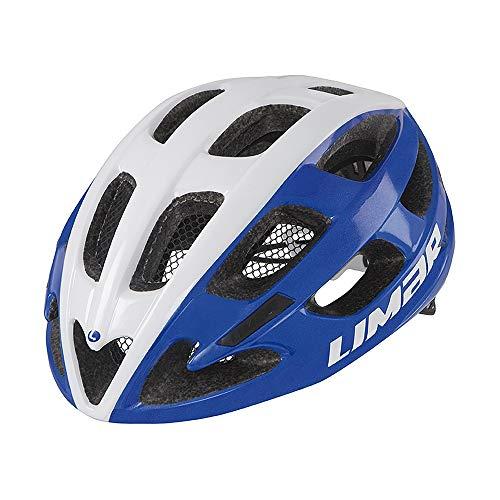 Limar Fahrradhelm Ultralight Lux Gr.L 56-62cm Weiss blau ca. 230g Fahrrad