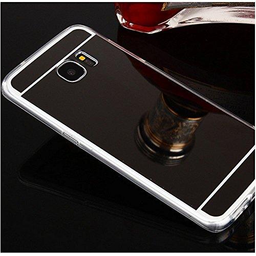 Sycode Coque Galaxy S8 Plus,Galaxy S8 Plus Silicone Housse,Ultra Mince Doux Coque en Effet Miroir pour Samsung Galaxy S8 Plus-Noir