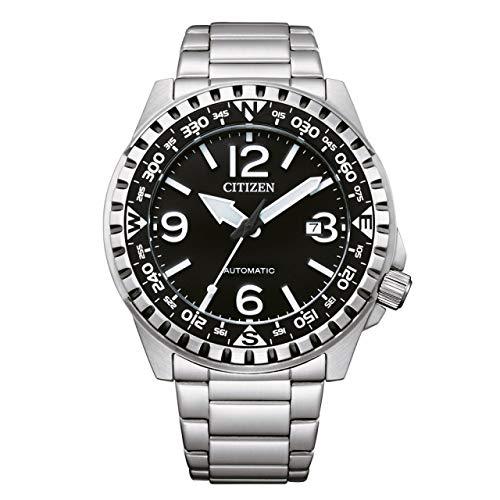 Citizen Reloj automático para hombre de acero/negro NJ2190-85E