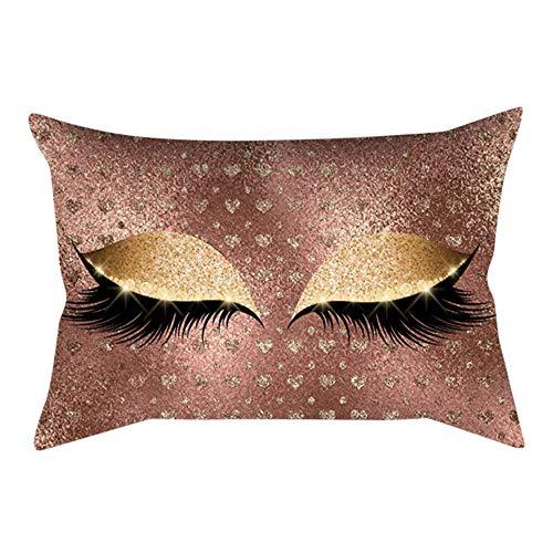 Xmiral Kissenbezug Soft Kissen Wimpernmuster 30x50cm Persönlichkeit Sofakissen Pillowcase(L)