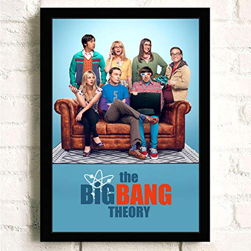 PCCASEWIND Frameless Painting 50X70Cm, The Big Bang Theory Movie Wall Artist Home Decoration Canvas Painting Nordic Hotel Bar Cafe Living Room Poster,Pc-1204