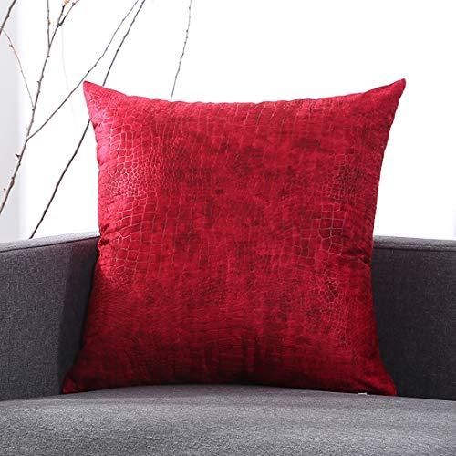 Vierkant Sierkussen - Zacht Pp-katoen Gewatteerd Kussen Om Rug- En Heupdruk Te Verlichten, Mooi Decoratief Kussen Voor Bed En Bank, 50 × 50 Cm,Red