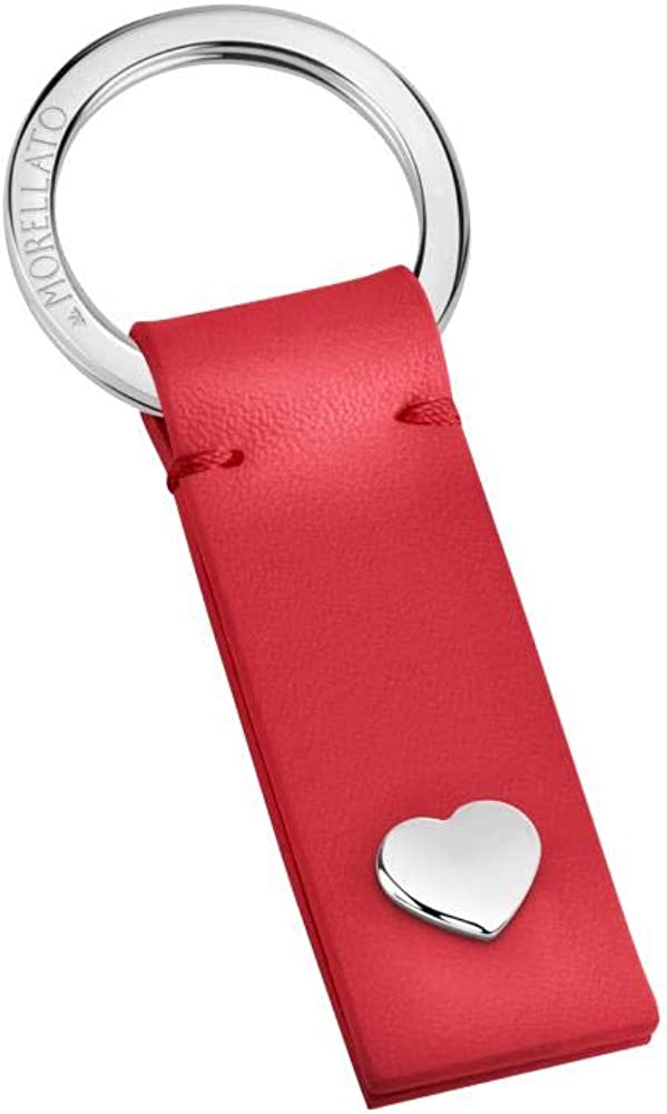 Morellato, portachiavi da donna, collezione keyrings, in acciaio e poliuretano - sd6807 8033288854524