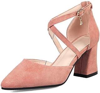 BalaMasa Womens ASL06579 Pu Block Heels
