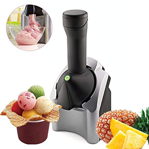 BECCYYLY Inicio Helado Maker Machine Inferencias, Gelato Sorbete Frozen Yogur Máquina Postre, Coche Suave Sirva Máquina Helado Negro wmpa