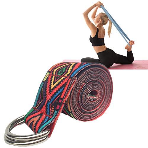 KUOZEN Accesorios Yoga Yoga Correa Hebilla de Correa de Yoga Correas y Cinturones de Yoga Correas de Yoga para Estiramiento Correa de algodón para Yoga