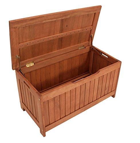 gartenmoebel-einkauf Kissenbox mit Deckel aus Eukalyptus Holz 88x45x45, FSC®-Zertifiziert - 2