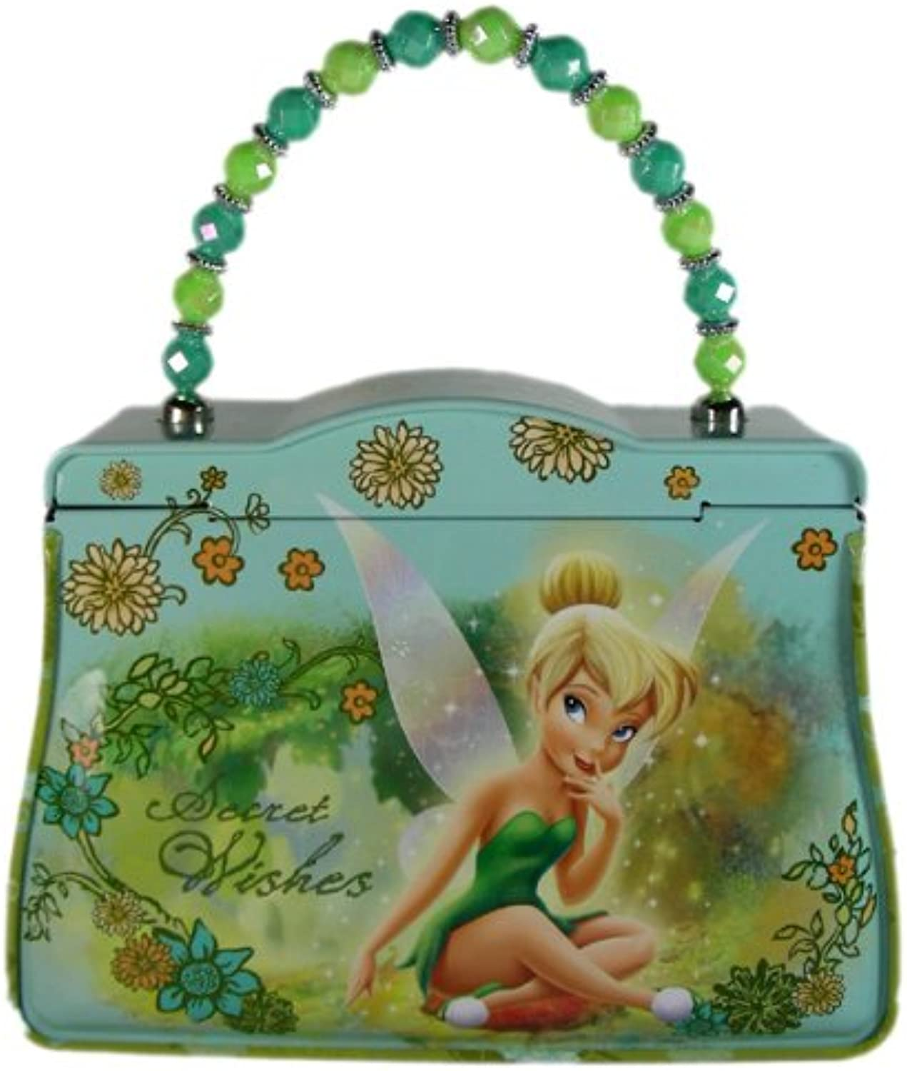Disney Fairies Tinker Bell Tin Purse with Beaded Handle - Tinkerbell Purse