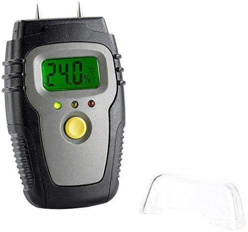AGT Holzfeuchtemesser: Holz- & Materialfeuchte-Messgerät mit LCD-Display (Feuchtemessgerät Holz)