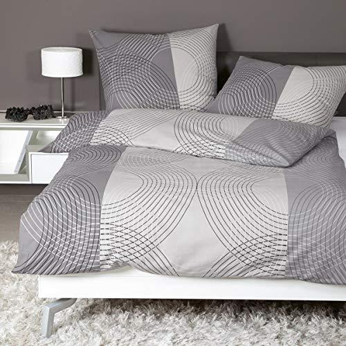 Janine Design Feinbiber Bettwäsche Davos 65074-08 1 Bettbezug 135x200 cm + 1 Kissenbezug 80x80 cm
