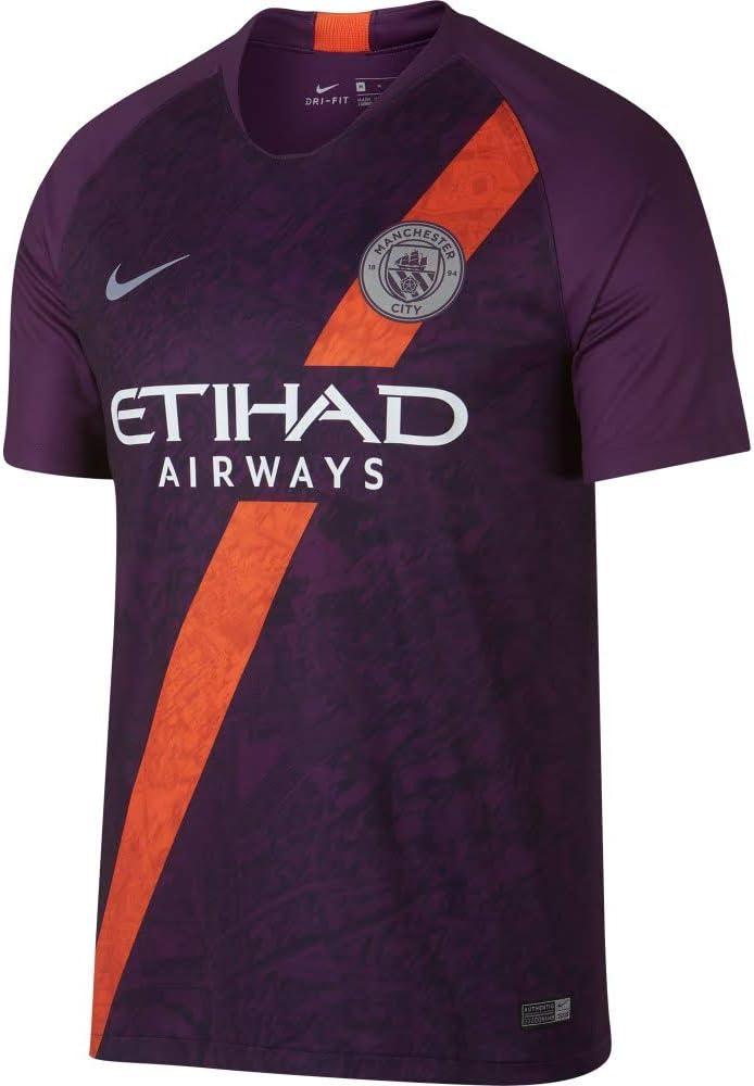 Nike 2018-2019 Man City OFFicial Ranking TOP18 mail order Third Jersey Soccer T-Shirt Football